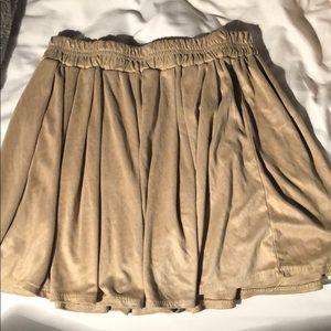 Brandi Melville suede camel nude mini skirt